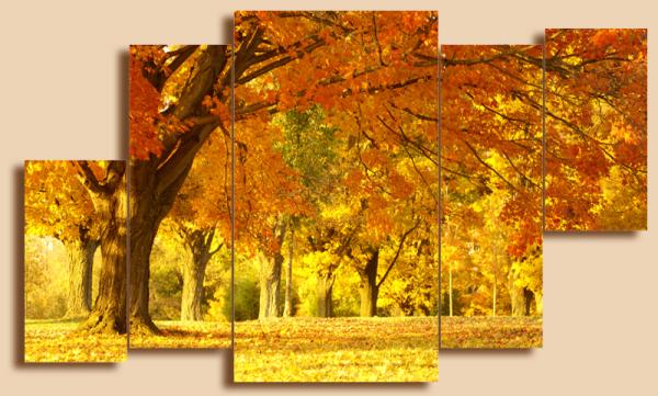 "Модульная картина на холсте ""В старом парке"" - 1850,00 грн"