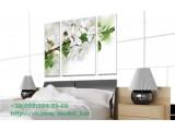 Модульная картина Белые цветы - 630,00