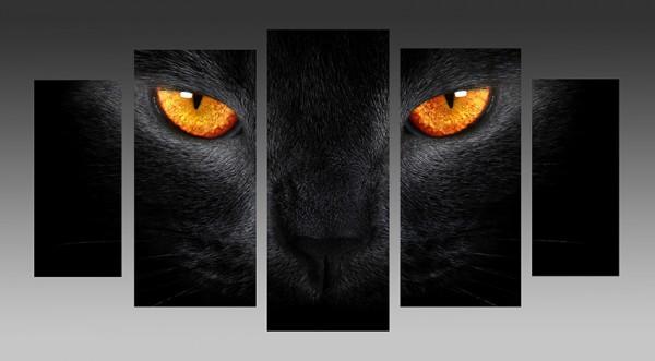 "Модульная картина ""Глаза кошки"" - 1090,00"