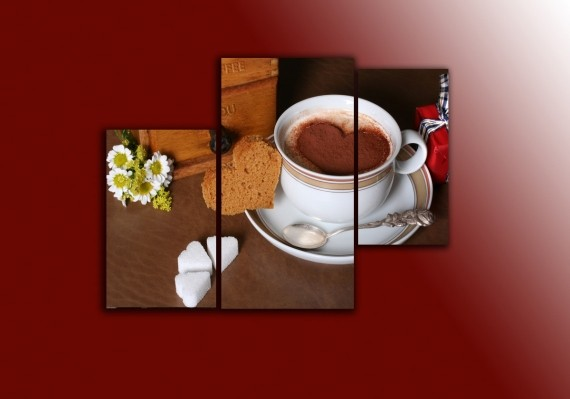 "Модульная картина ""Кофе"" от 310,00 грн"