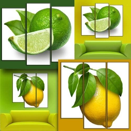 """Модульная картина """"Лимонное настроение"""""""