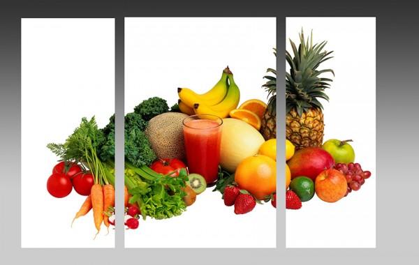 """Модульная картина """"Овощи и фрукты"""" - 510,00 грн"""