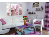 Модульная картина Розовые цветы от 630,00 грн