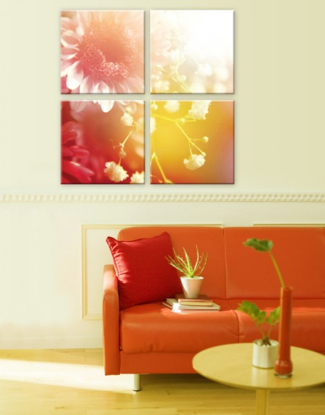 Модульная картина Цветы белые - 870,00 грн