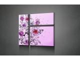 Модульная картина Цветы на розовом фоне 490,00 грн