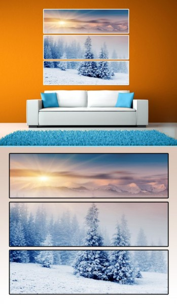 Модульная картина Зимний сон