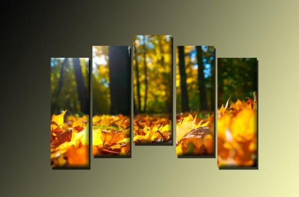 Модульная Картина - Золотые Листья - 970,00 грн