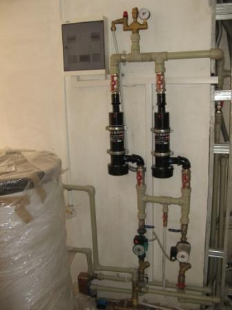 Модульная установка на базе электродных котлов БЛ-50 (отопление горячая вода подогрев бассейна) до 300 м2.