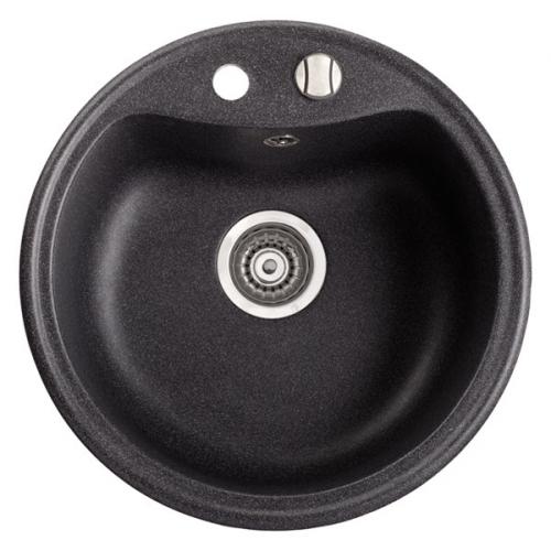 Мойка Kova - круглая чаша Размеры: 510x510x190 мм. Размеры чаши: 425x335x180 мм. Минимальный размер шкафа: 50 см.