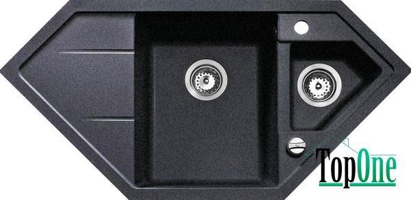 Мойки гранитные Teka astral 80 e-tg черный металик (в/э) 88937
