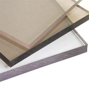 Монолитный поликарбонат , антивандальный , сверхпрочный , толщина 5 мм .