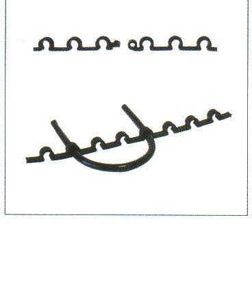 Montagestege Монтажная лента пластиковая, диаметр петли крепления 6 и 8 мм, длина 1 м