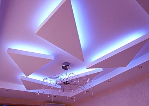 Монтаж гипса потолок