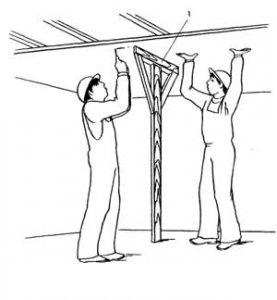 Монтаж гипсокартона потолок