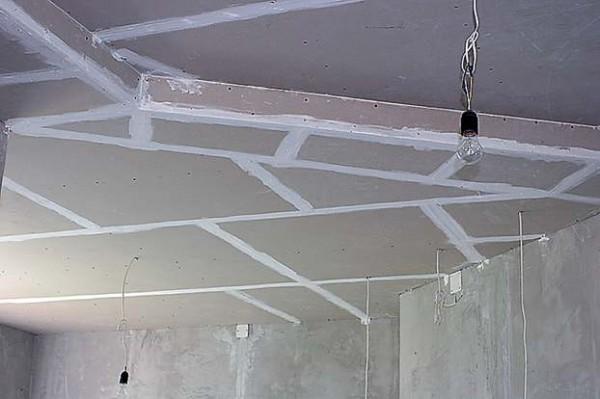 Монтаж гипсокартона (потолок) м2 от 100грн 1 уровень