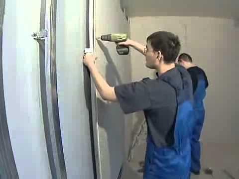 Монтаж гипсокартона (стены) м2 от 80грн