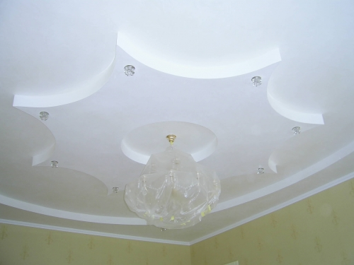 Монтаж многоуровневых потолков при помощи гипсокартонных систем