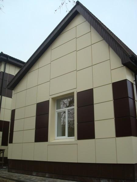 Монтаж навесного вентилируемого фасада из АКП (алюминиевых композитных панелей)