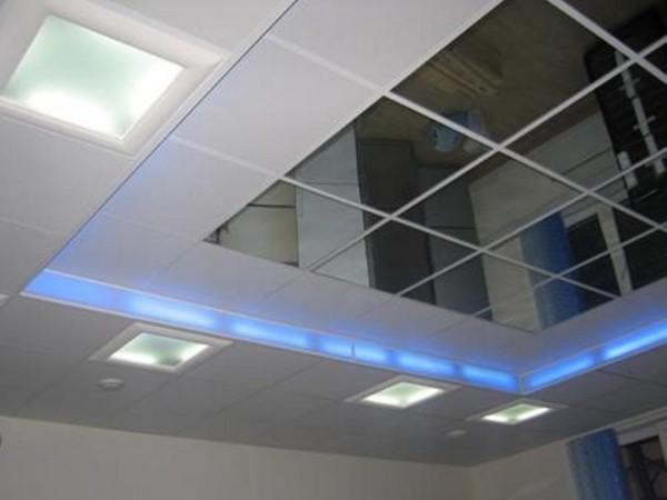 Монтаж подвесных потолков, зеркального