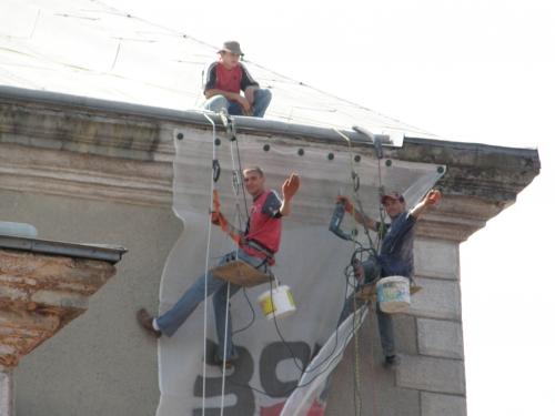 Монтаж захисних сіток на фасади