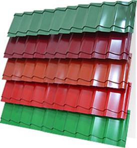 Фото  1 Металлочерепица Монтеррей, все цвета RAL, матовая, глянцевая 79009