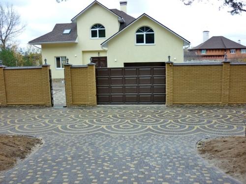 Мощение тротуарной плитки, гранитной брущатки. Укладка тротуарной плитки дёшево Киев, гарантия.