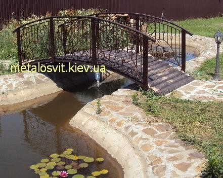 мостик через пруд ковка
