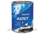 Фото  1 Моющаясяакриловая краска Akrit 7 Eskaro (2,85л) 1842622