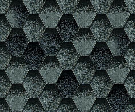 Мозаик Альпийский сланец. Битумная черепица ТЕГОЛА (TEGOLA) линии Супер.