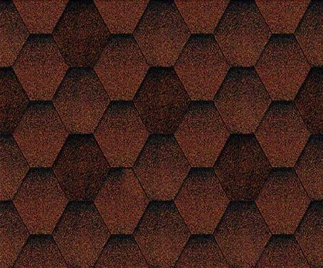 Мозаик Красный гранит. Битумная черепица ТЕГОЛА (TEGOLA) линии Супер.