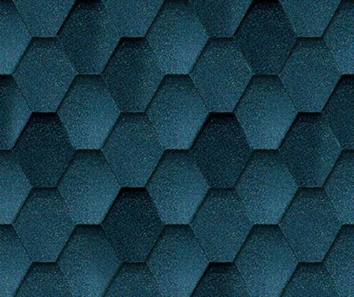 Мозаик Синяя ночь. Битумная черепица ТЕГОЛА (TEGOLA) линии Супер.