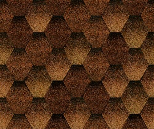 Мозаик Сосновая кора. Битумная черепица ТЕГОЛА (TEGOLA) линии Супер.