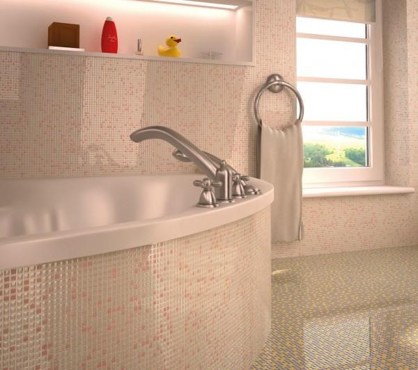 мозаика 10х10 стеклянная, прокрашена по всей толщине, 30x30x5.5mm на сетке, морозостойкая, универсальная!