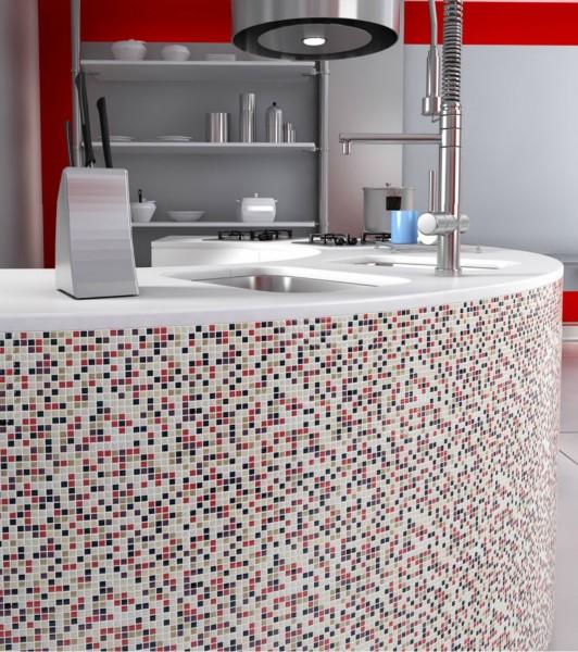 мозаика (305) 10х10- стеклянная, прокрашена по всей толщине, 30x30x5.5mm на сетке, морозостойкая, универсальная!