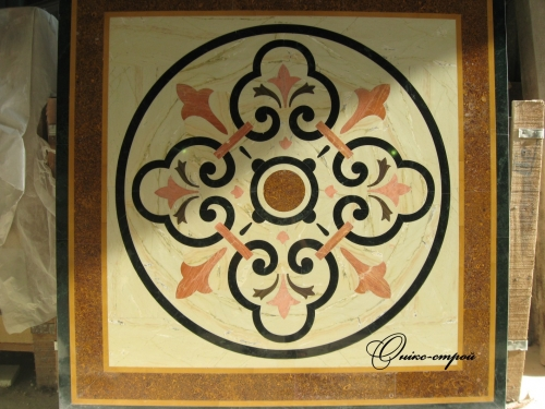 Мозаика мраморная Индийские мотивы