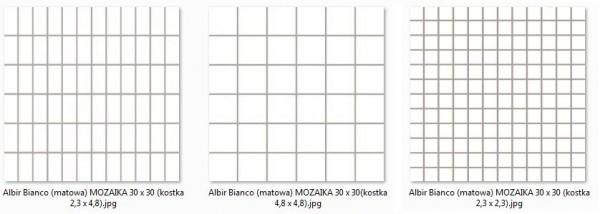 мозаика Albir Bianco (matowa) MOZAIKA 30 x 30