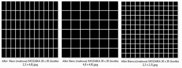мозаика Albir Nero 30х30