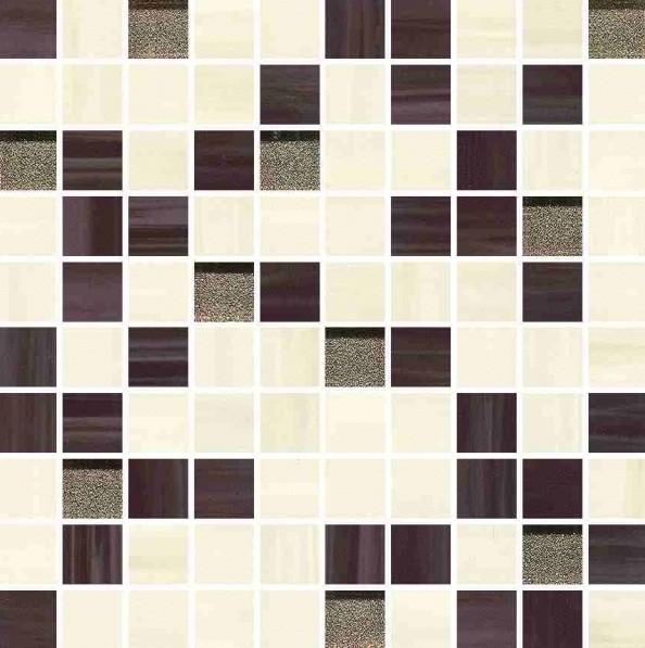 Мозаика керамика-стекло 25х25