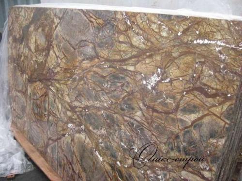 Мрамор Forest Brown (Индия) в слябах толщиной 30 мм