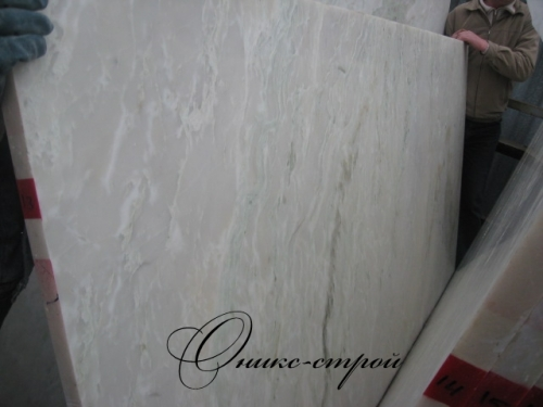 Мрамор Onyx White (Индия) в слябах 30 мм