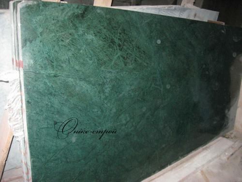 Мрамор Verde Gvatemala (Индия) в слябах толщиной 30 мм