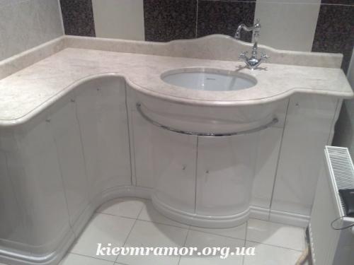 Мрамор. Столешницы (ванная комната, кухня), столы из мрамора, барные стойки.