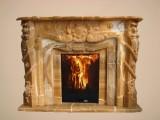 мраморный портал из полудрагоценного натурального оникса. огромный выбор каминов на складе в киеве 044 331-81-24