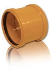 Муфта ПВХ для безнапорной внешней канализации D 110 мм