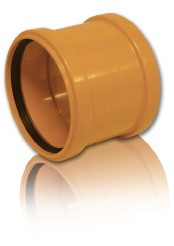 Муфта ПВХ для безнапорной внешней канализации D 250 мм