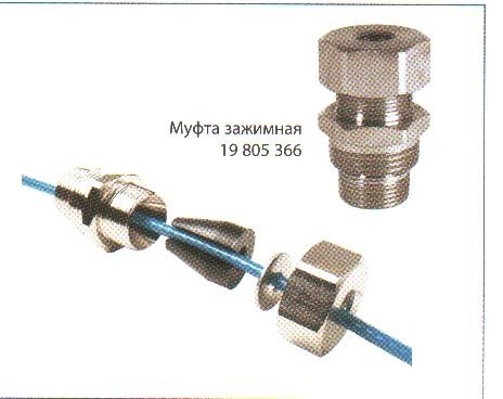 Муфта зажимная герметичная для установки кабеля DPH-10 внутри трубы с водой, диаметр 3/4 и 1