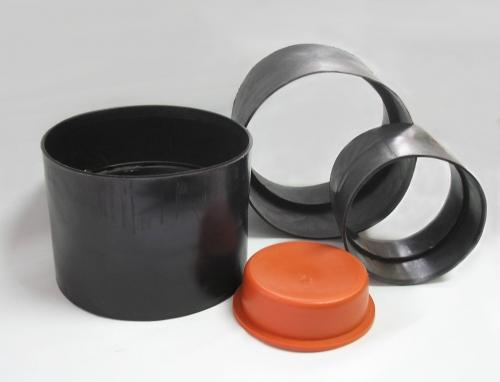 Муфты полиэтиленовые МПТ-1, МПТ-2, МПТ-3 для соединения асбестоцементных труб с условным проходом 100, 150, 200