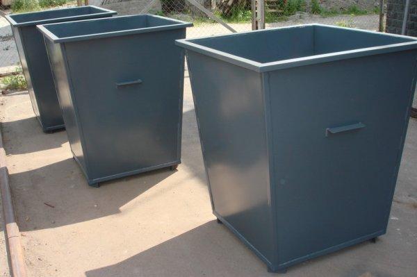 Фото  1 мусорный бак металлический, емкость 0,75 куб 1910597