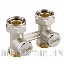 Н-образный запорный клапан RLV-KS D3/41/2, угловой