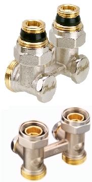 Н - образный запорный клапан RLV-KS угловой/прямой, DANFOSS, D 3/4х1/2